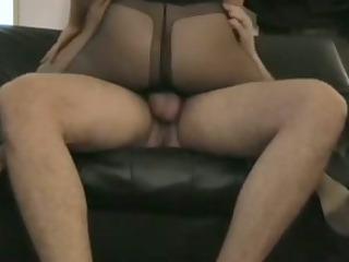 stockings wife tease