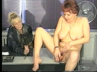 german interviewer helps milf masturbate (clip)