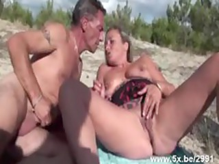 french mature gangbanged on the seaside