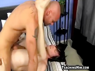 muscular older  stud banging a twinks tight ass