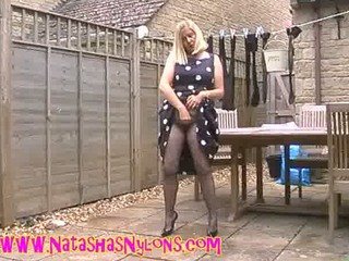 amp lady lady into nylons pleasing the neighbours