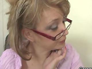 mature bureau boss forces him pierce her hard