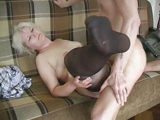 older  albino into nylons bangs the man