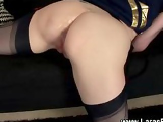 older girl with stockings gets creampie