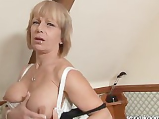 older  european pale stuffs cave with heavy sex