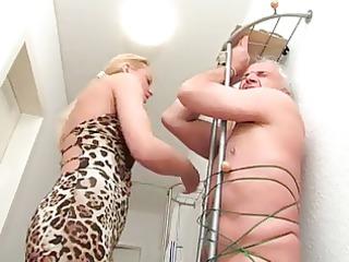 inexperienced blond older  handjob