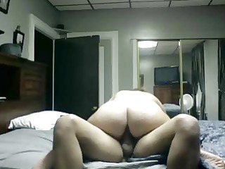 lady with lovely huge ass drives cock