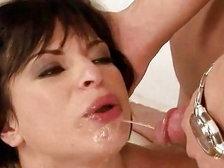 grandpa piercing and pissing on lady