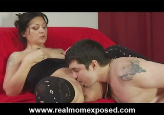 perverted tattooed wife coarse drilled on the