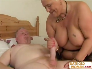 tattooed granny duo do nasy things in bunk