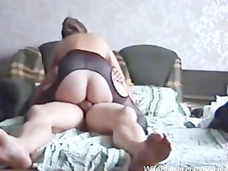 drilling the wife on the sofa