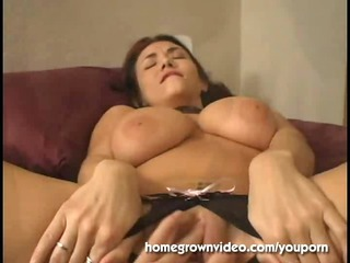 huge titty milf left with cave dripping creampie
