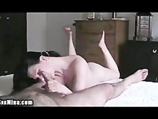 mature bitch massages her mans penis