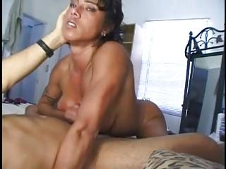 muscle lady handjob