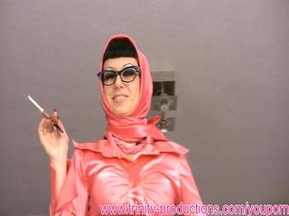 filthy talking slutty lady smoking femdom