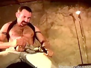 self cbt session by hairy muscular man.
