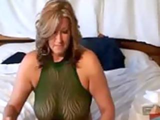 milf fellatio titty bang on live webcam