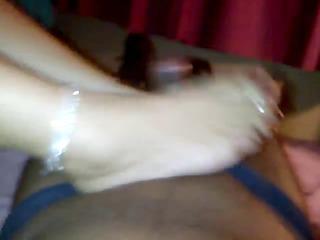 mature latino foot