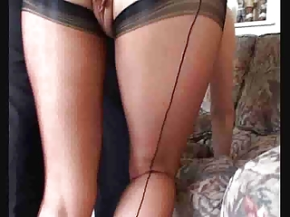 filthy mommy inside pantyhose acquires her vagina