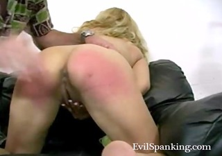 dilettante spanking his blond wicked wife