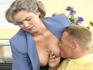 crazy elderly milf acquires penis drilled and