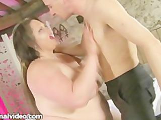 filthy british lady bbw honey fucks amateur stud