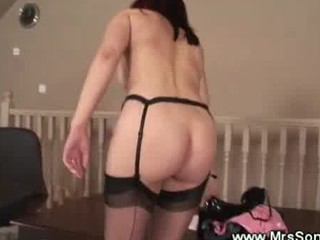 naughty cougar gangbangs strapon penis