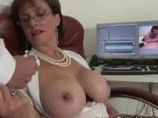 american large chest older  babe handjob