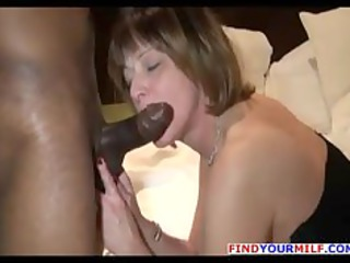 nasty milf ass rimming with big ebony male