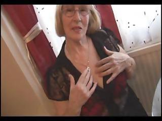 hirsute granny inside nylons striptease