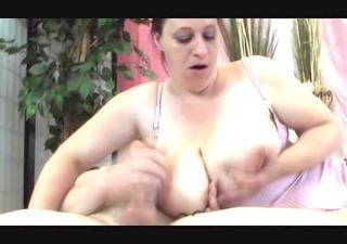 brunette hair bbw-milf with huge-boobs in sexy