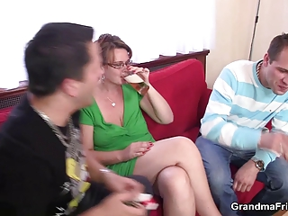 older  babe is lured inside three people
