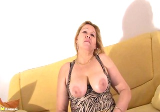latina older sexually excited housewife in solo