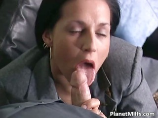 brunette milf into nylons worships
