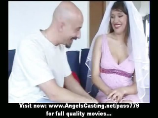 shocking awesome brunette bride lovely talking