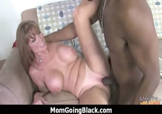huge dark meat going into lascivious mom 53