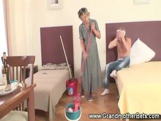 fisting a enormously older cleaning elderly