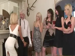 busty party mature babes have a feel of their