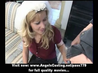 fresh delightful bleached bride pretty talking