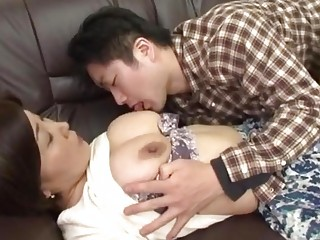 naughty japanese mother acquires abuse by her man