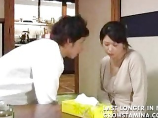 japanese the son decided to protect a his milf