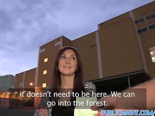 publicagent hd brunette woman gets her cave