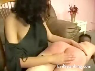 angry milf spanking boyfriend