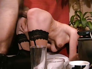 woman acquires her anal drilled and takes a facial