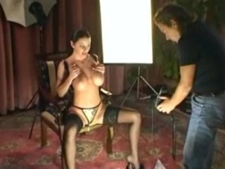 mature babe gabriella doing a gstring photoshoot
