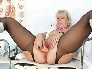 pale lady inside latex uniform extreme vibrator