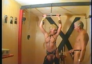 blond cougar acquires off on servitude