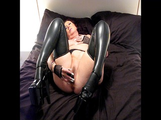 latex nylons and 8 inch shoes